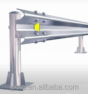 Corrugated safety highway guardrail