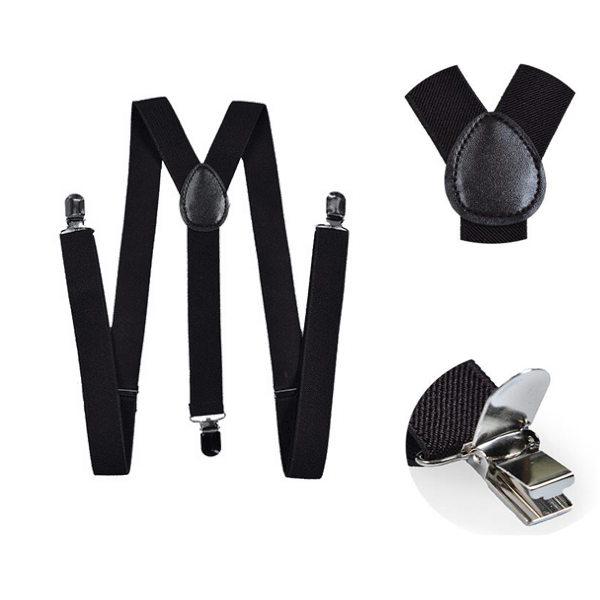 Fashion design men promotion 3 clips elastic suspender stock 2.5cm Y shape male suspender