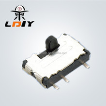 LY-SS07A Compact Size Customizable Slide Switches 2P2T 2P2T 2P3T with ear slide switch