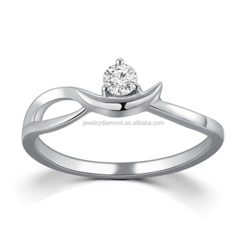 Classic Design 0.103CT 18K white gold Diamond jewelry sell ring price