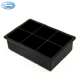 6-Cubes Wholesale Silicone Large Ice Cube Tray Mold Maker