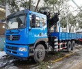 new model euro5 diesel 10 tires heavy duty 6x4 chengli 8 ton boom truck crane