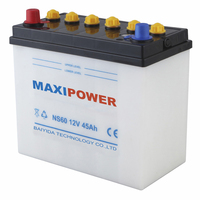 jis standard high performance dry charged car battery