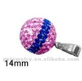 shamballa stainless steel charms pendant purple