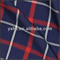 55% cotton and 45% polyester poplin tc yarn dyed fabric