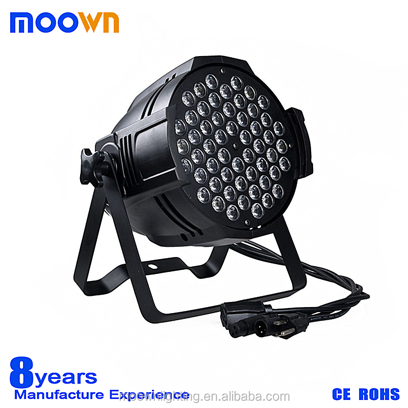 Guangzhou DMX512 par zoom stage light rgb 3in1 led 54 3w par light