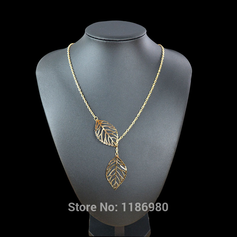 New Lovely Necklace Women Gold/Silver Leaf Pendant Charm Plated Party Chain