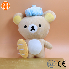 customized Marmot with bread shape plush toy /stuffed cute animal doll