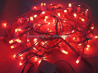 CE RoHS red color led flashing string light waterproof Christmas decorative light