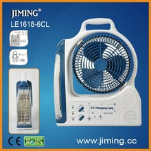 LED rechargeable fan with light,emergency fan ,portable-LE1618-6CL