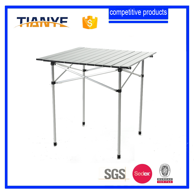 Tianye Aluminium Business Gift pattern small camping <strong>table</strong> for BBQ