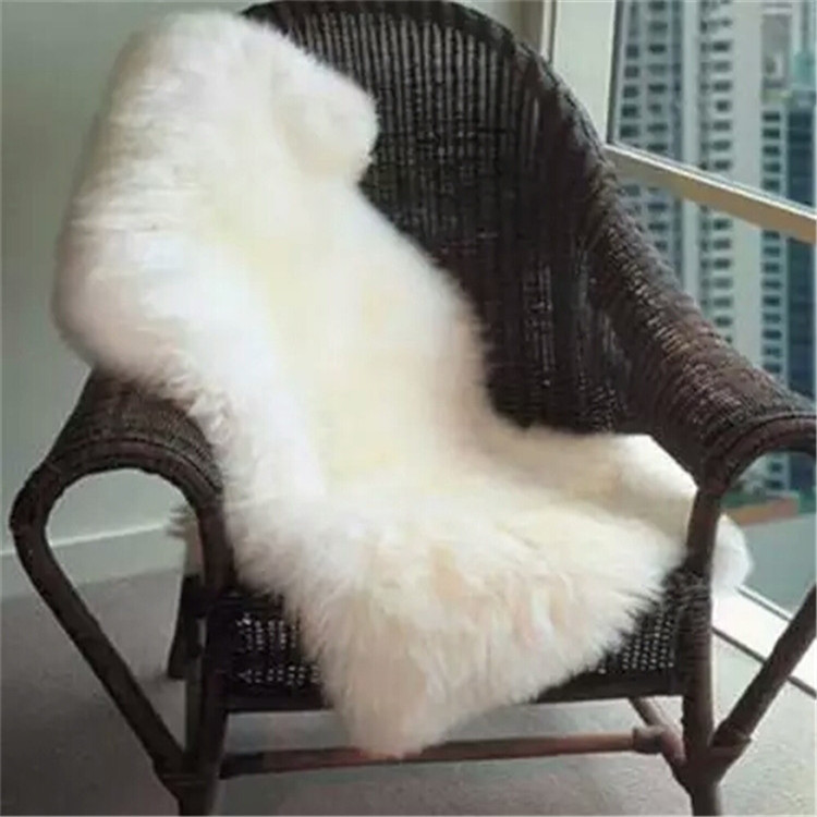 White natural colour long pile faux sheepskin rug fake fur with faux fur fabric