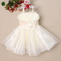 New Stock Kid Clothing Girl Elegant Dresses Fashion Party Dress White New Style Costumes for Kids Clothing GD21029-07