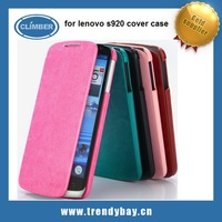 kld flip leather mobile phone cover for lenovo s920 case