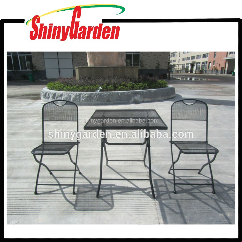 galvanized steel chair, stainless steel chair, steel table and chair