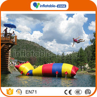 Sealed lake inflatables,inflatable sea blob water catapult for sale