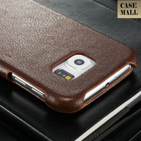 China Products Hot Selling Smart Phone Accessory Flip Down Wallet Cover For Samsung S6 Case Genuine Leather