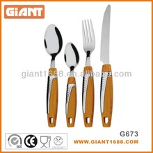 High quality 18/10 Stainless Steel Spoon and Fork with wooden handle
