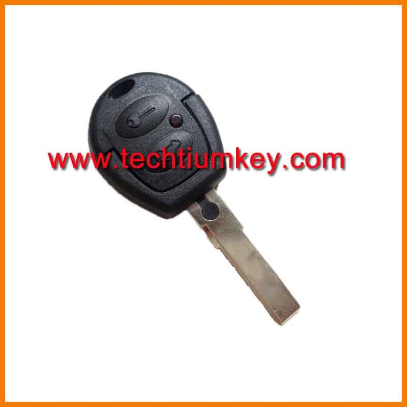 2 button remote key blank shell can be separated into remote head key head with LED light for VW Volkswagen golf remote key