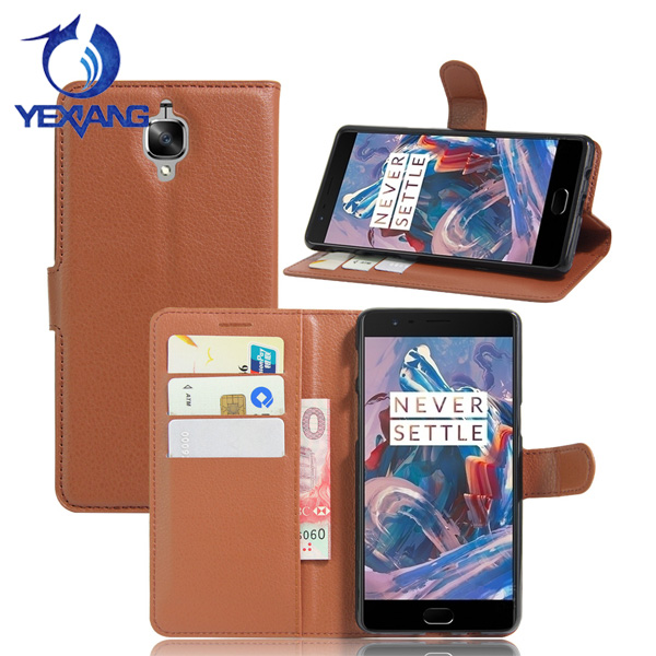 Smart Phones Leather Card Holder With Stand Case Flip Cover For Oneplus 3