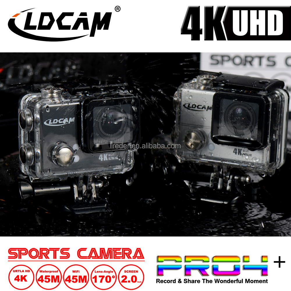 4K WiFi Sport DV PRO4 + Ultra HD Action Camera 1080P/30fps Diving Helmet Cam 2.0 LCD Web Camera