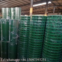 2.5 Wire Diameter PVC Coated 1'' X 1'' Aperture Welded Wire Mesh 30m Roll