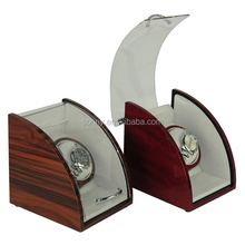 Custom Piano Finish Wooden Carbon Fiber Watch Winder