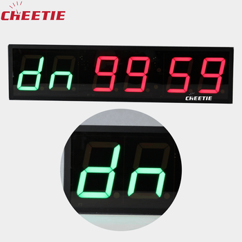 CHEETIE LED Digital Crossfit Clock Battery Operated Tripod Stand