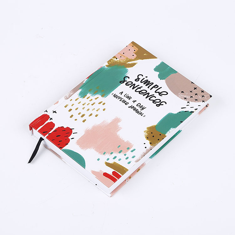Stylish A5  Hardcover 365 days Undated Daily Planner Journal Notebook Hardbound Sewing Binding with Strip Bookmark