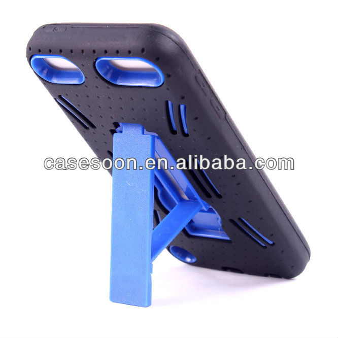 Mobile Phone Combo Case with kickstand For iPod Touch 5