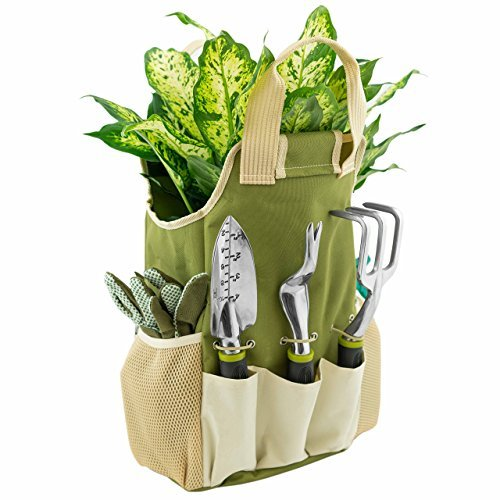 Personalized Garden Tote Bag With Pockets Tool Bucket Caddy