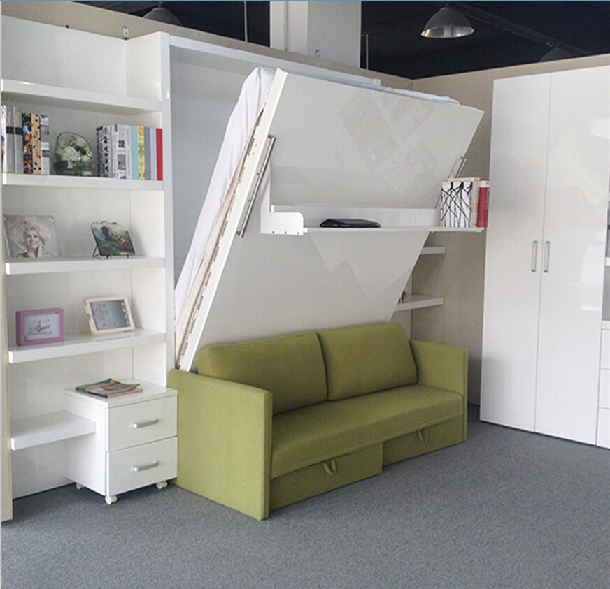 space saving hidden wall bed,folding wall bed, modern space saving <strong>furniture</strong>