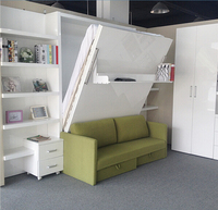 space saving hidden wall bed,folding wall bed, modern space saving furniture