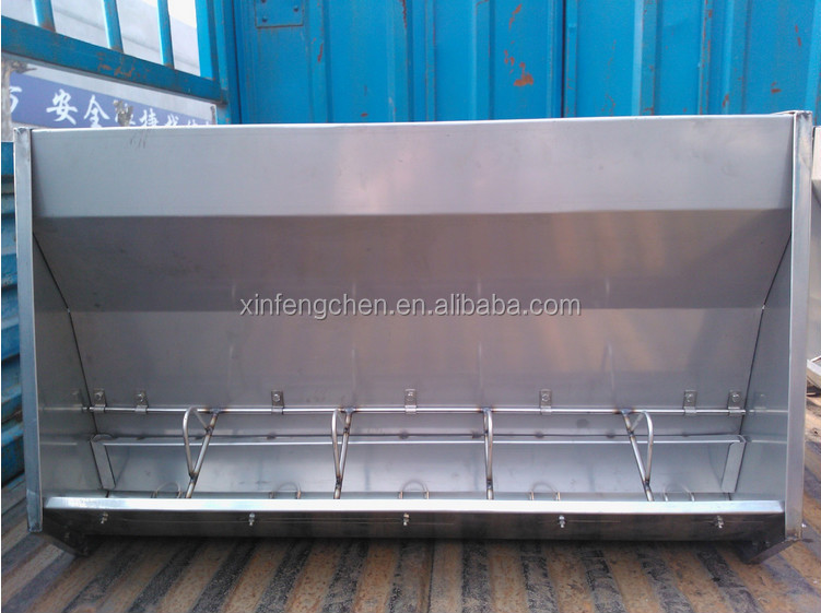 Pig feeding system stainless steel double side automatic pig feeder