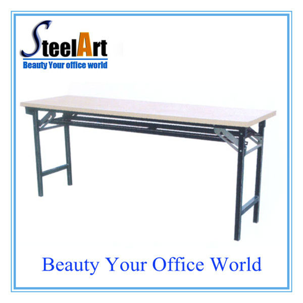 Folded Moveable trainning/meeting desk with wheels