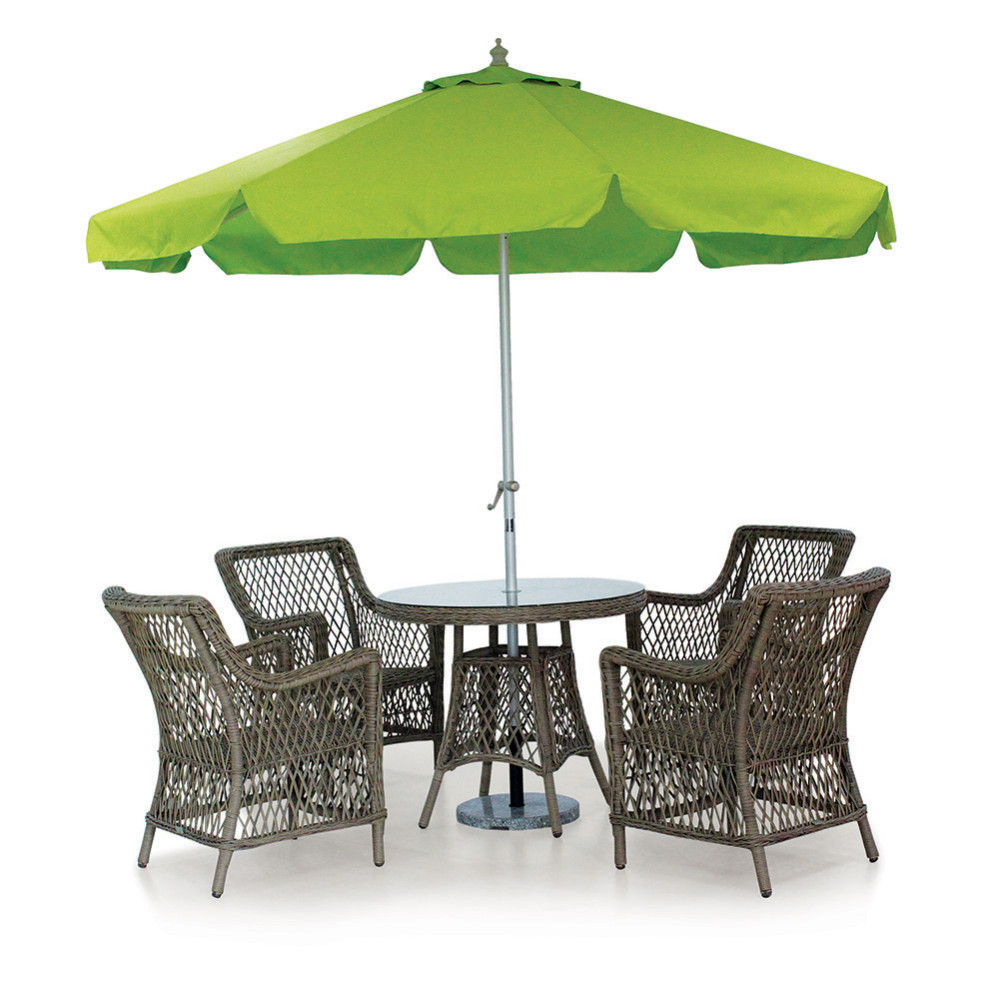 Western style outdoor cafe set rattan garden patio dining for Outdoor furniture quad cities
