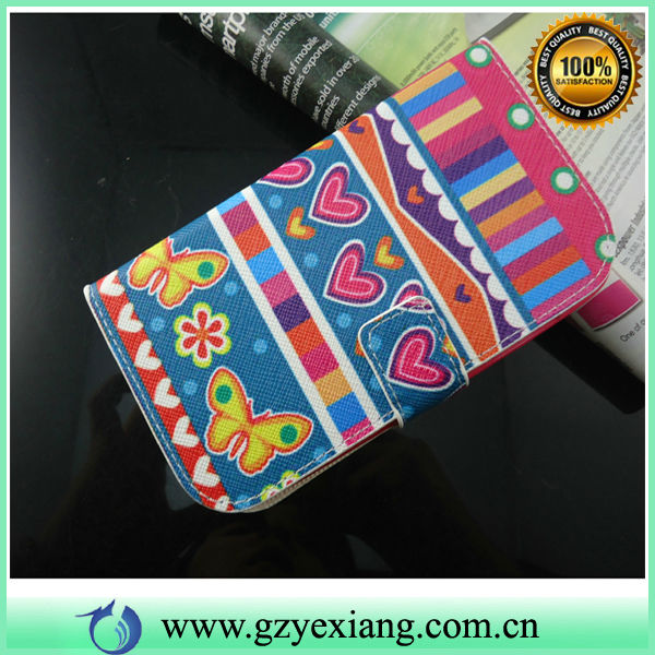 Cell Phone Flip Cover Pouch Leather Case For Samsung Galaxy Grand Duos