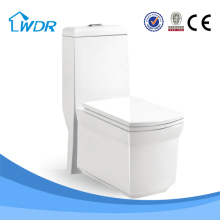 Bathroom ceramic siphonic one piece european standard toilet