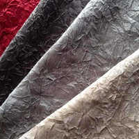 Brand New Product Burnout Fabric Leather