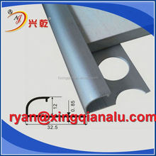 l shaped tile trim/aluminum corner trim/bronze metal tile trim