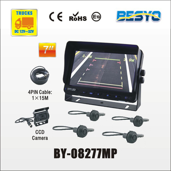 Heavy vehicle parking sensor system, car, van,bus,truck 24V parking sensor system BY-08277MP