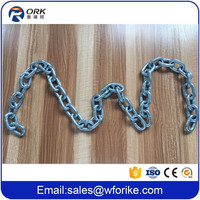 "High Test Hot Dip Galvanized 5/16"" ASTM80 G43 Link Chain"