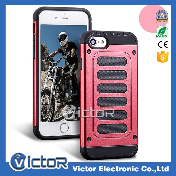 Stock available fast delivery 2in1 combo case for iPhone 7 fashion case