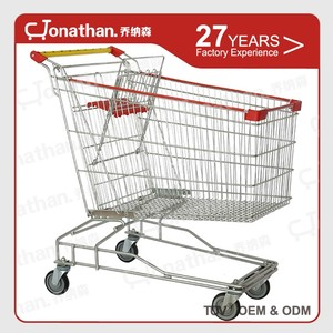 125L available colors metal mall supermarket shopping cart