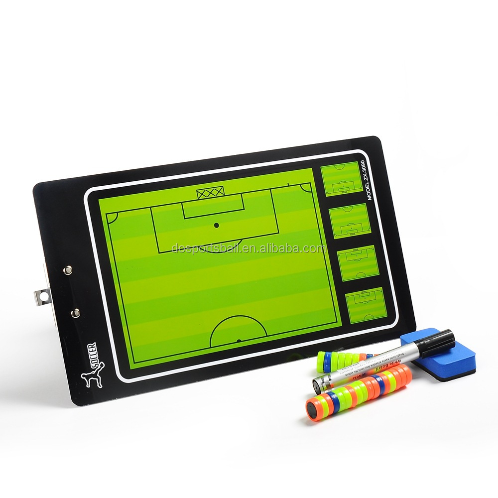 Soccer training magnetic coach board with Pen Dry Erase Clipboard Teaching tactic board