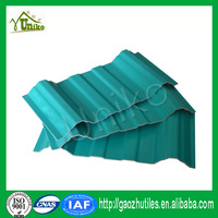 anti-uv ray layered plastic new carbon fiber upvc roof tile UPVC corrugated roofing tile