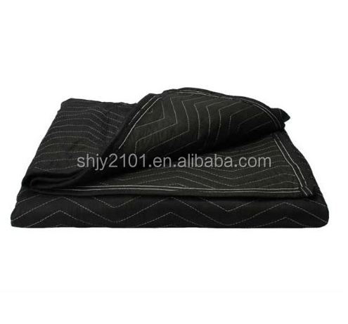 "China Wholesale Moving Blanket (Single) 72"" X 80"" Economy Mover Black / Black"