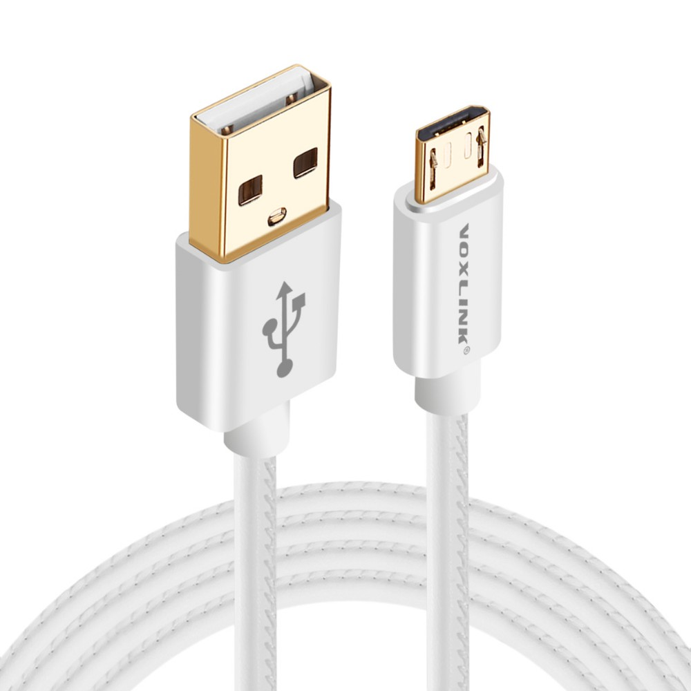 VOXLINK 0.25/1m/2m/ high quality usb Charging Cable multi color PU micro usb cable
