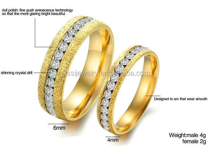 Fine Jewelry Stainless Steel Diamond Latest Gold Finger Ring