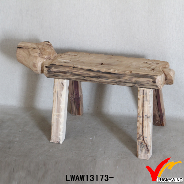 hand carving vintage farm wholesale child wood stool